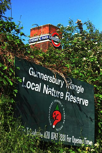 Gunnersbury Triangle - Image: Gunnersbury Triangle Local Nature Reserve by Chiswick Park Station