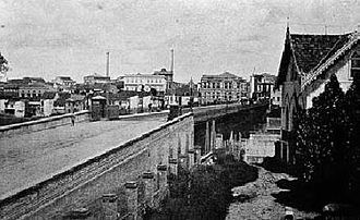 Viaduto do Chá - The original viaduct in 1895