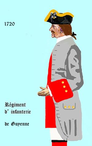 Régiment de Guyenne - Image: Guyenne inf 1720