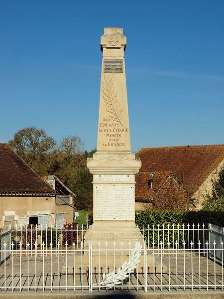 Monument aux morts de Gy-l'Évêque 5yonne, France)