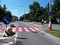 Háje, Hviezdoslavova, přechod a zastávka Poliklinika Háje.jpg