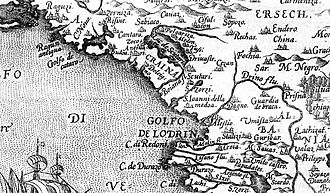 Ulcinj - An old map of Ulcinj