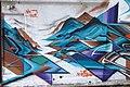 HK 上環 Sheung Wan 太平山街 Tai Ping Shan Street 水巷 Water Lane back Graffit wall painting blue dragon April 2018 IX2 02.jpg
