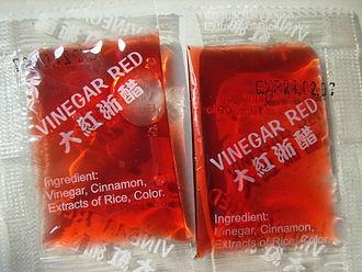 Rice vinegar - Red rice vinegar