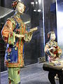 HK Sheung Wan Civic Centre 陶藝人物塑像 Ceramic sculpture 2 Chinese standing figures April-2012.JPG