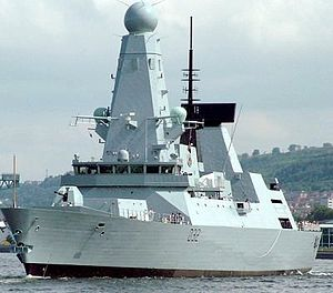 Command of the sea - HMS ''Daring'', a Royal Navy Type 45 guided missile destroyer.