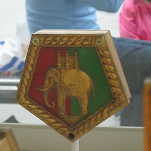 HMS Coventry (D43) - Image: HMS Coventry boat's badge