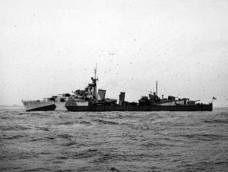 HMS <i>Eskimo</i> (F75) Tribal-class destroyer launched 1937