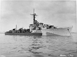 HMS Volage (R41) - Image: HMS Volage 1944 IWM FL 21163