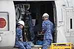 HQS-104 dipping sonar mounted on SH-60K(8410) at JMSDF Maizuru Air Station May 18, 2019 04.jpg