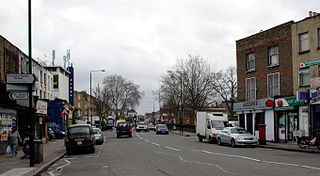 Hackney Road London arterial route running from Shoreditch Church to Cambridge Heath in the London Boroughs of Hackney and Tower Hamlets