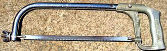 "Hacksaw - Typical full-size hacksaw frame, with 12"" blade"