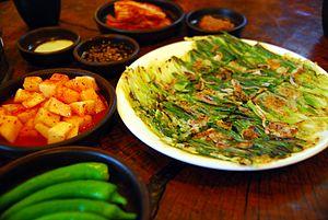 Tree onion - haemulpajeon (seafood pajeon)