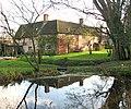 Hall Farm (farmhouse) viewed across the pond on the green - geograph.org.uk - 1614195.jpg