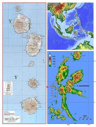 Sultanate of Tidore - Image: Halmahera Ternate Tidore Mare Moti Makian