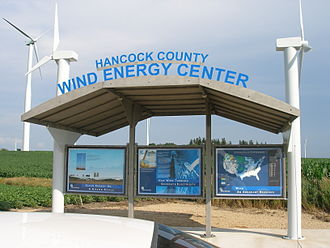 Hancock County, Iowa - Image: Hancock County Wind Energy Center visitor kiosk 3059998289 e 60b 6b 5a 09 o