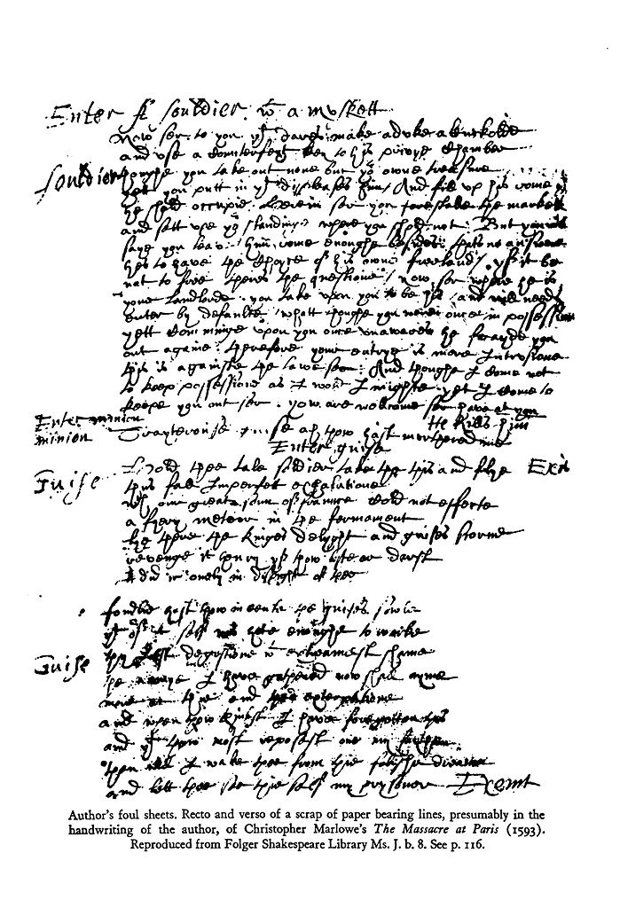 Filehandwriting Marlowe Massacre 1g Wikimedia Commons