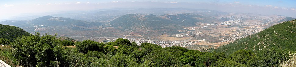 A panoramic view taken from mount Ari in the Upper Galilee towards the Lower Galilee