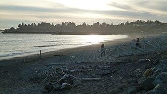 Harbor, Oregon - The beach at Harbor