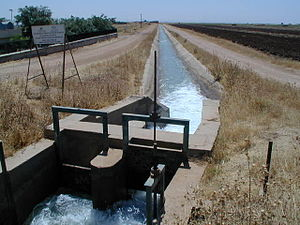 Floodgate - A sluice gate on the Harran canal