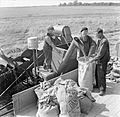 Harvesting at Mount Barton, Devon, England, 1942 D10325.jpg