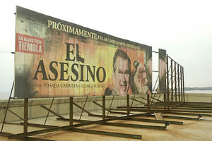 "United States Interests Section in Havana - A billboard seen facing the US Interests Section (now US Embassy) in Feb. 2007, showing George W. Bush as ""The Murderer""."
