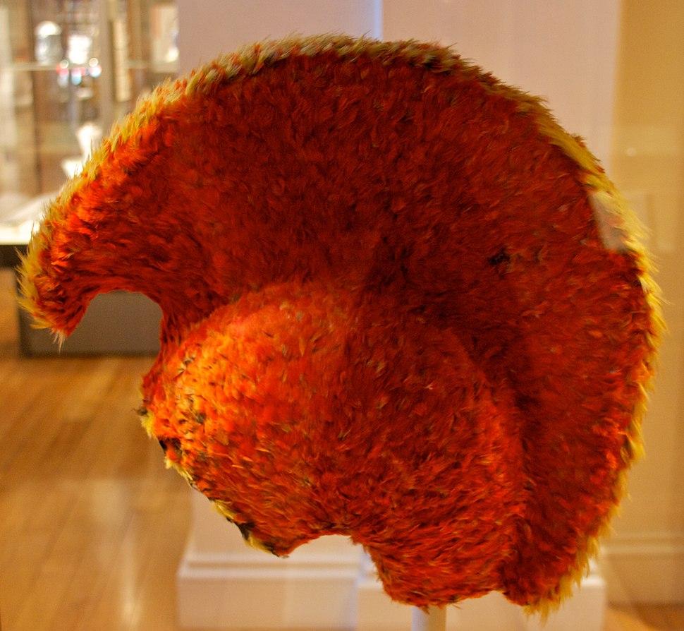 Hawaiian feather helmet, British Museum 3