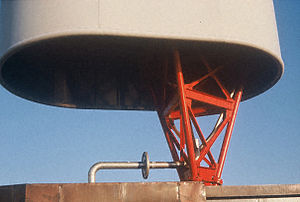 Hawes Radio Relay Site - Image: Hawes Antenna Base