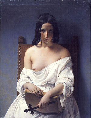 Italia turrita - Italia Turrita in Meditazione (1848) by Francesco Hayez