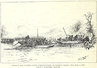 Chattanooga Campaign - Hazen's men land at Brown's Ferry