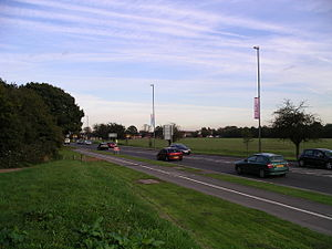Hearsall common and road 18o07.JPG