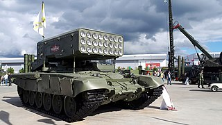 TOS-1 Russian multiple thermobaric rocket launcher