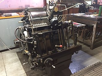 Original Heidelberg Platen Press - Original Heidelberg Platen Press