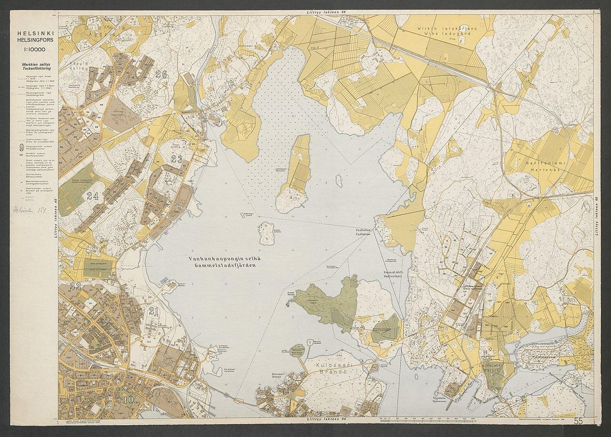 File Helsinki 12 Osainen Asemakaavallinen Kartta Kaupungin Rajat