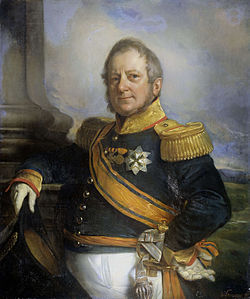 Lukisan Letnan Gubernur Jenderal Hindia Belanda, Hendrik Merkus de Kock (1779–1845), karya Cornelis Kruseman.