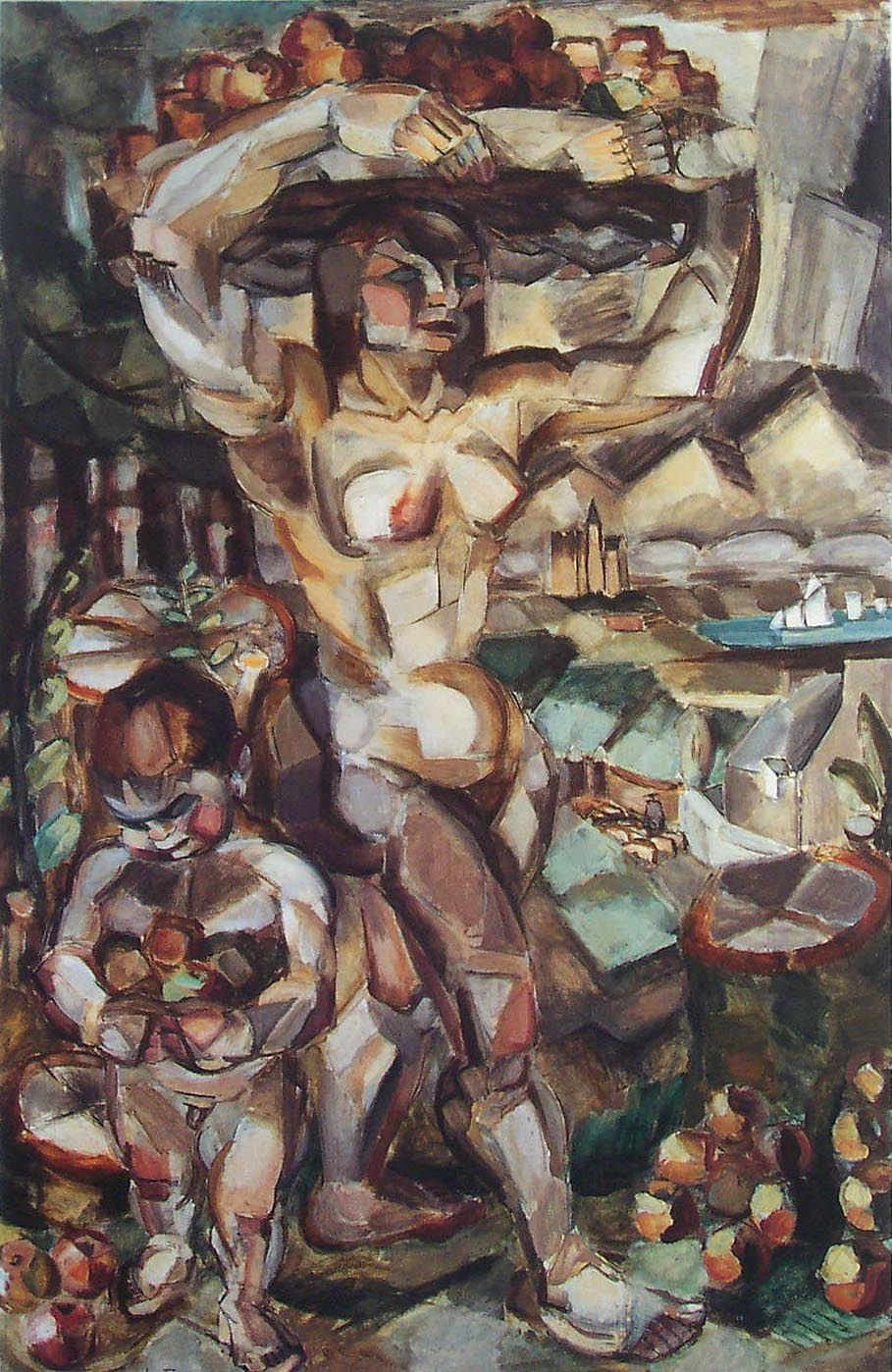Henri Le Fauconnier, 1910-11, L'Abondance (Abundance), oil on canvas, 191 x 123 cm (75.25 x 48.5 in.), Gemeentemuseum Den Haag