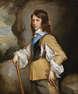 Elizabeth Stuart (daughter of Charles I) - Princess Elizabeth's younger brother, Henry, Duke of Gloucester, painted in 1653 by Adriaen Hanneman.