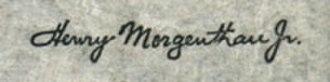 Henry Morgenthau Jr. - Image: Henry Morgenthau Jr sig