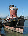 "Steam tug ""Hercules"", Hyde Street Pier, San Francisco Maritime National Historic Park."