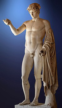 "So-called ""Logios Hermes"" (Hermes,Orator). Marble, Roman copy from the late 1st century CE - early 2nd century CE after a Greek original of the 5th century BCE."