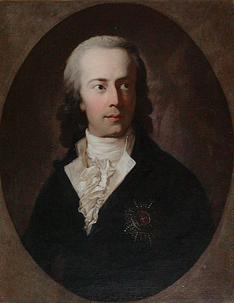 Frederick Christian II, Duke of Schleswig-Holstein-Sonderburg-Augustenburg - Portrait by Anton Graff