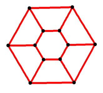 Prism graph - Image: Hexagonal prismatic graph