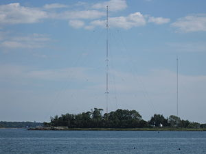 High Island, New York - High Island as viewed from nearby Orchard Beach.