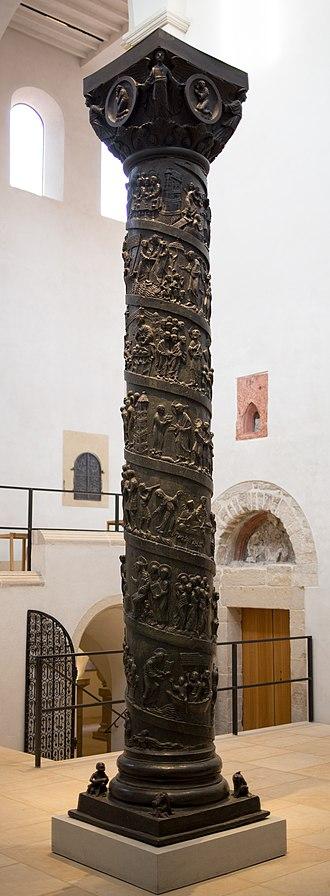 Bernward Column - The Bernward Column in Hildesheim Cathedral (since 1893)