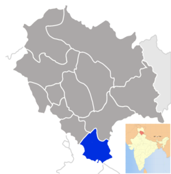 Location of Sirmaur district in Himachal Pradesh