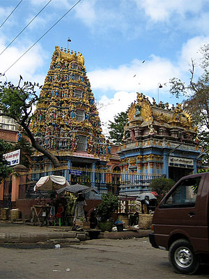 Burmese Indians - Shri Kali Temple, Burma, a Hindu temple with Dravidian architecture in Yangon