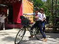Ho Chi Minh Young Pioneer League members on bicycle near Huế.jpg