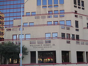 William P. Hobby Jr. - Image: Hobby Office Bldg., Austin, TX IMG 6338