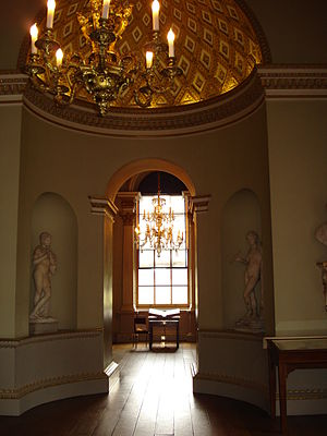 Art collections of Holkham Hall - The Southern Exedra the Statue Gallery
