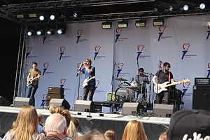 Hollerado - Hollerado performing at the Liberation Day festival in The Hague, 2014